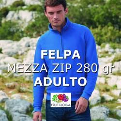FELPA Fruit mezza zip