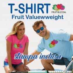 T-SHIRT Fruit stampata